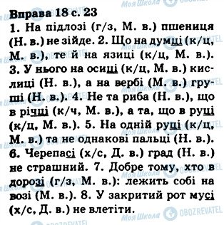 ГДЗ Українська мова 5 клас сторінка 18
