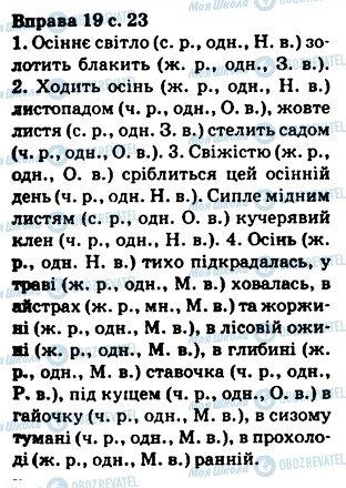 ГДЗ Українська мова 5 клас сторінка 19