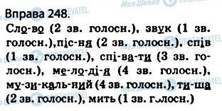 ГДЗ Українська мова 5 клас сторінка 248
