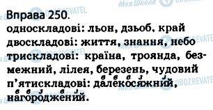 ГДЗ Українська мова 5 клас сторінка 250
