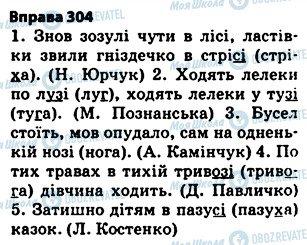 ГДЗ Укр мова 5 класс страница 304