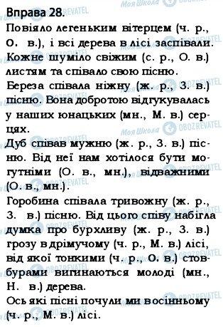 ГДЗ Укр мова 5 класс страница 28