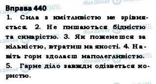ГДЗ Українська мова 5 клас сторінка 440