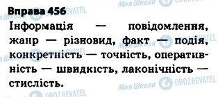 ГДЗ Українська мова 5 клас сторінка 456