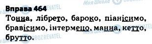 ГДЗ Українська мова 5 клас сторінка 464