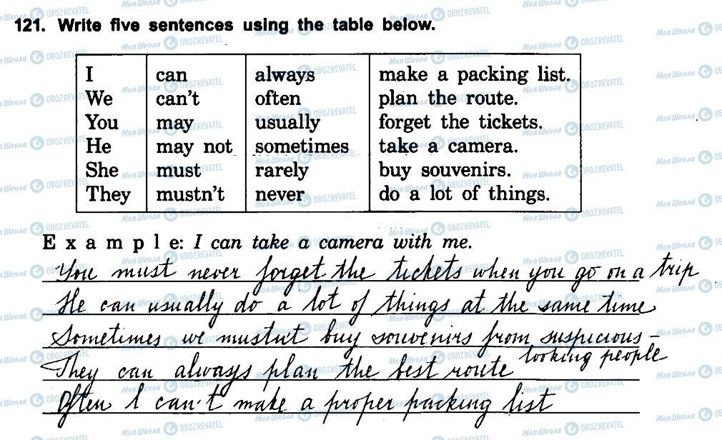 ГДЗ Английский язык 5 класс страница 121