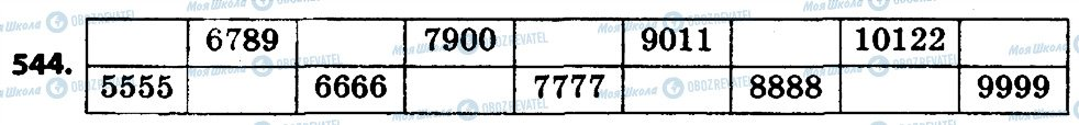 ГДЗ Математика 4 класс страница 544