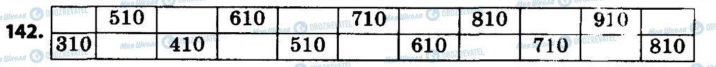 ГДЗ Математика 4 класс страница 142