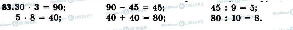 ГДЗ Математика 4 клас сторінка 83
