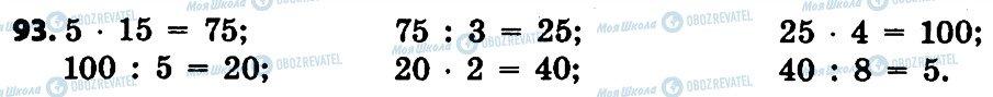 ГДЗ Математика 4 класс страница 93