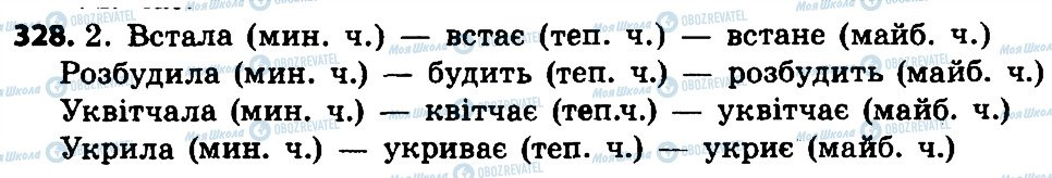 ГДЗ Укр мова 4 класс страница 328