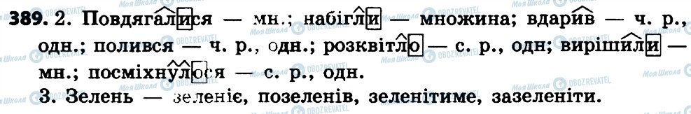 ГДЗ Укр мова 4 класс страница 389