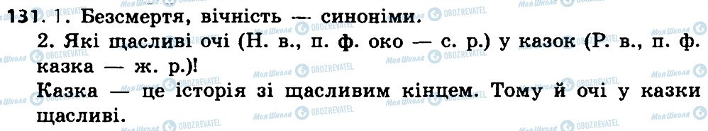 ГДЗ Укр мова 4 класс страница 131