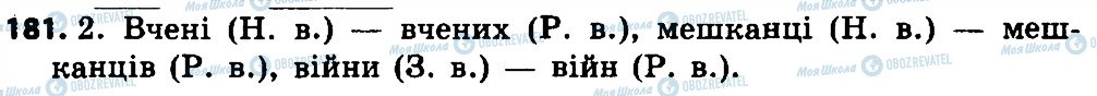 ГДЗ Укр мова 4 класс страница 181