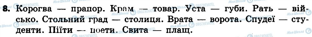 ГДЗ Українська мова 4 клас сторінка 8