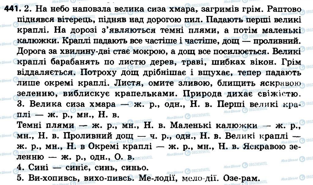 ГДЗ Укр мова 4 класс страница 441