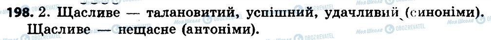 ГДЗ Укр мова 4 класс страница 198