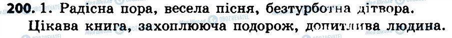 ГДЗ Укр мова 4 класс страница 200
