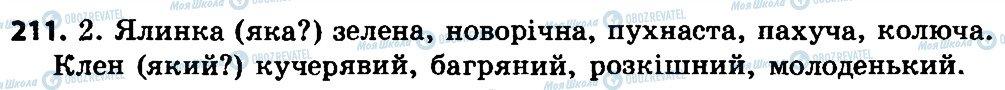 ГДЗ Укр мова 4 класс страница 211