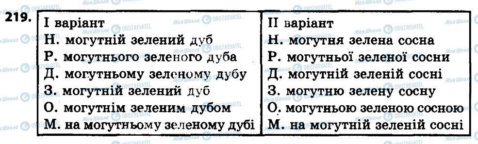 ГДЗ Українська мова 4 клас сторінка 219