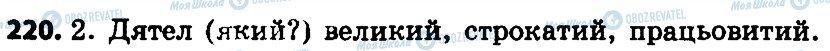 ГДЗ Укр мова 4 класс страница 220