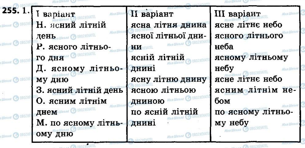 ГДЗ Укр мова 4 класс страница 255
