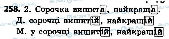 ГДЗ Укр мова 4 класс страница 258