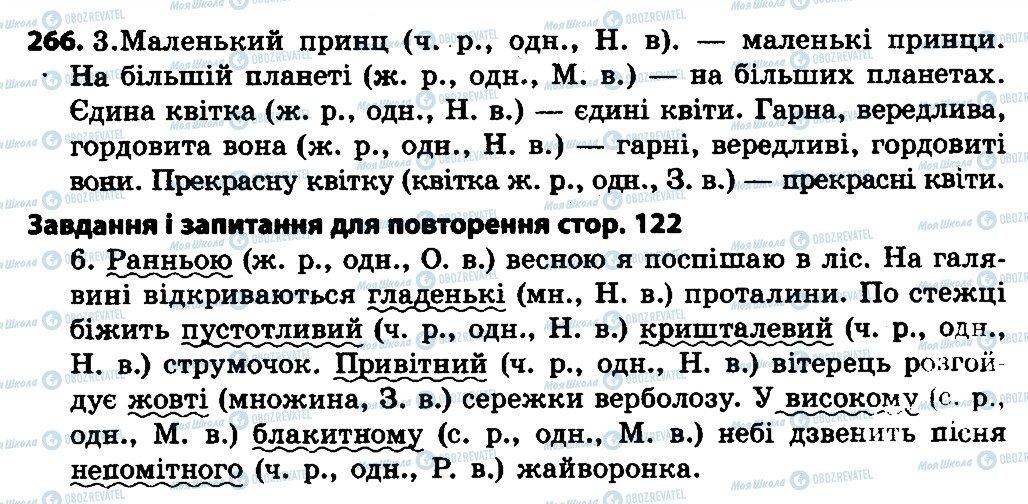 ГДЗ Українська мова 4 клас сторінка 266