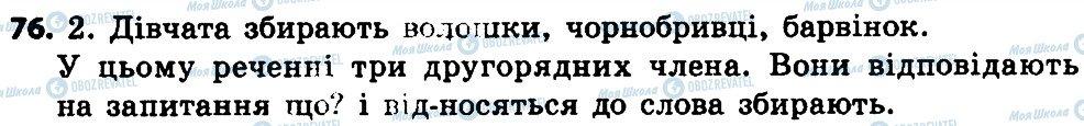 ГДЗ Укр мова 4 класс страница 76