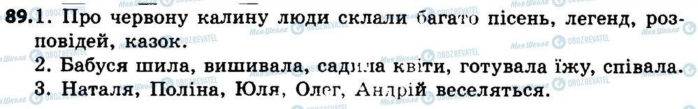 ГДЗ Укр мова 4 класс страница 89