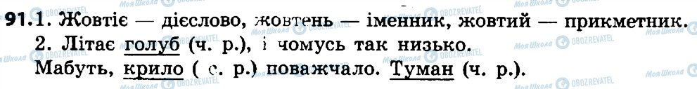 ГДЗ Укр мова 4 класс страница 91