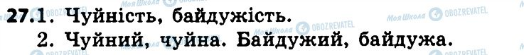 ГДЗ Укр мова 4 класс страница 27