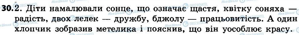 ГДЗ Укр мова 4 класс страница 30