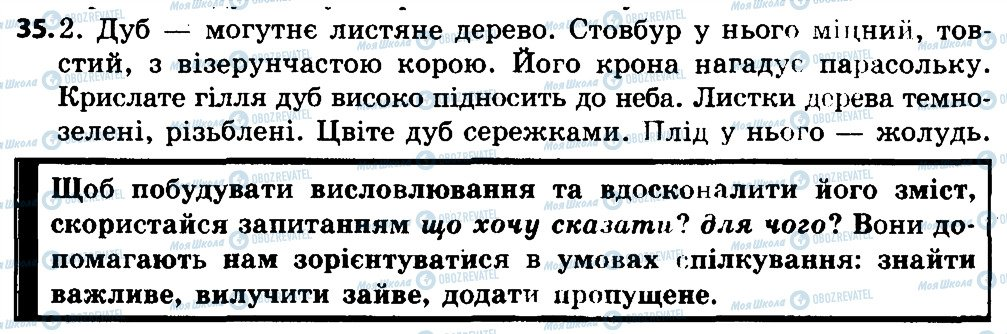 ГДЗ Укр мова 4 класс страница 35