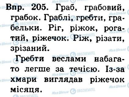 ГДЗ Українська мова 4 клас сторінка 205