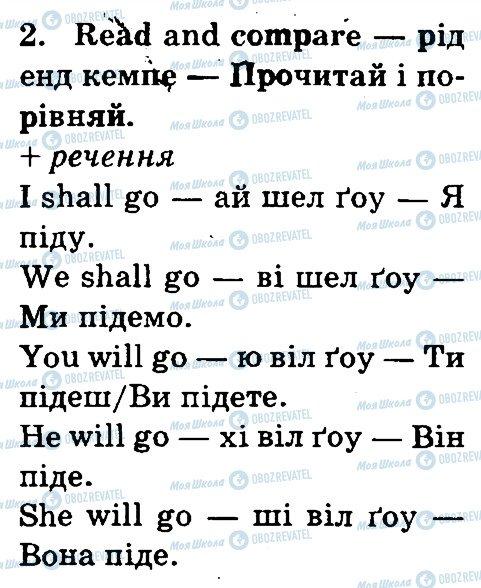 ГДЗ Англійська мова 3 клас сторінка 2