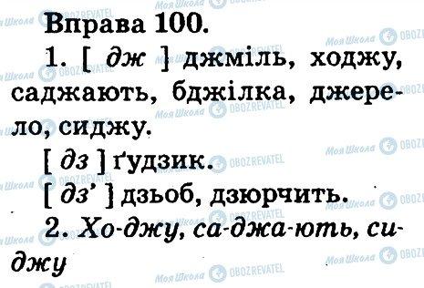 ГДЗ Українська мова 2 клас сторінка 100
