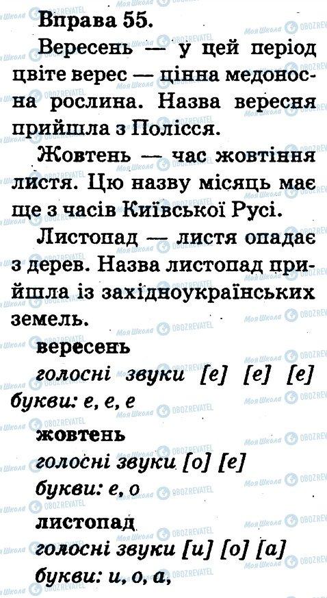 ГДЗ Українська мова 2 клас сторінка 55
