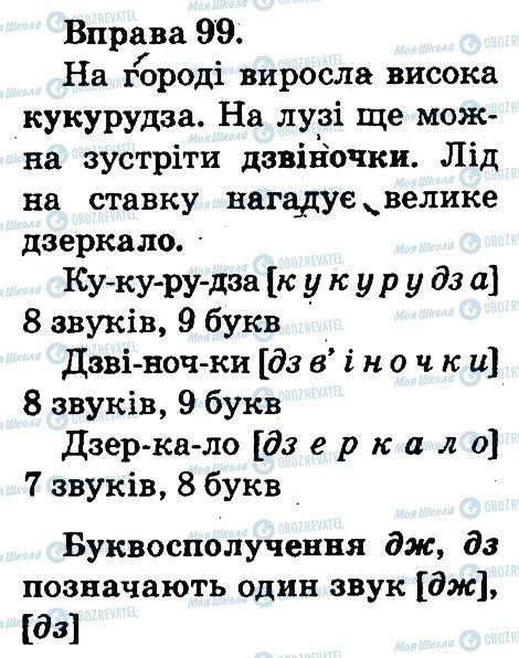 ГДЗ Українська мова 2 клас сторінка 99