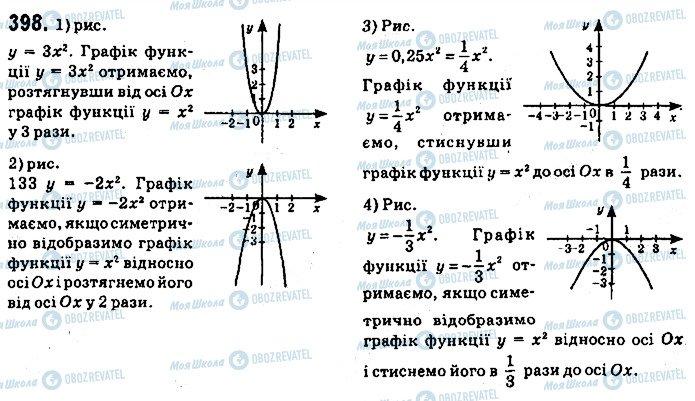 ГДЗ Алгебра 9 класс страница 398