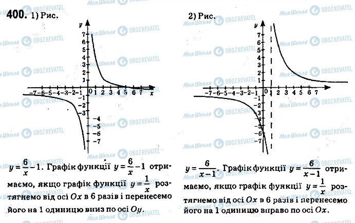 ГДЗ Алгебра 9 клас сторінка 400