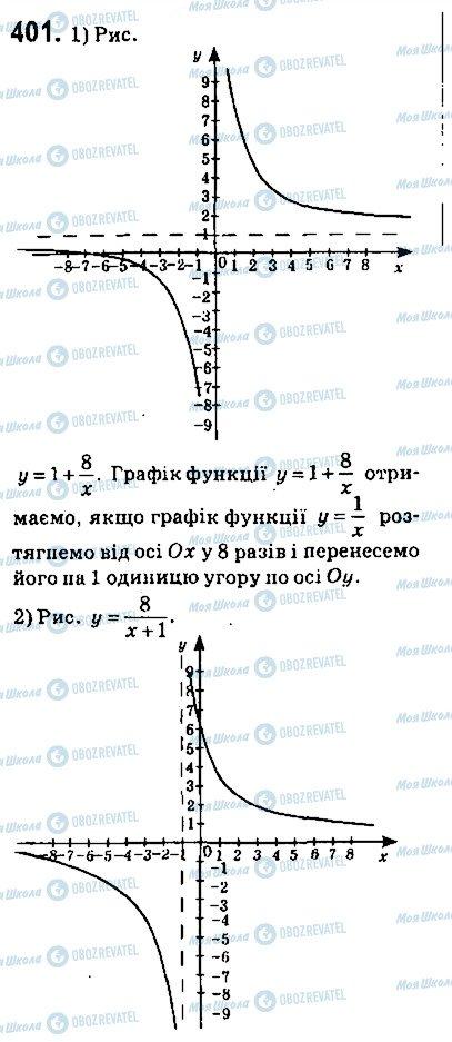 ГДЗ Алгебра 9 класс страница 401