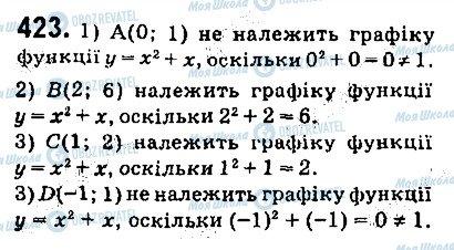 ГДЗ Алгебра 9 клас сторінка 423