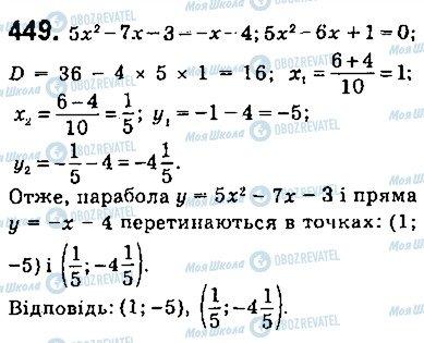 ГДЗ Алгебра 9 клас сторінка 449