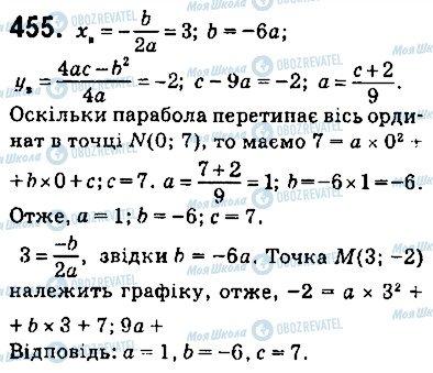 ГДЗ Алгебра 9 клас сторінка 455