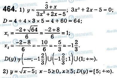 ГДЗ Алгебра 9 клас сторінка 464