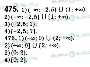 ГДЗ Алгебра 9 клас сторінка 475