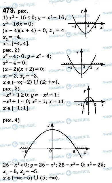 ГДЗ Алгебра 9 клас сторінка 479