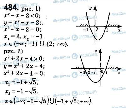 ГДЗ Алгебра 9 клас сторінка 484