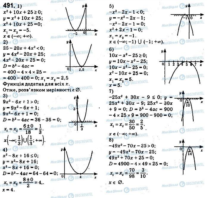 ГДЗ Алгебра 9 клас сторінка 491